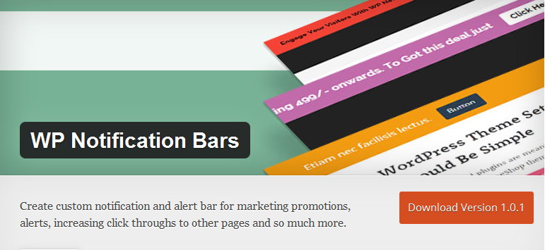 Use WP Notification Bars to capture the attention of your visitors