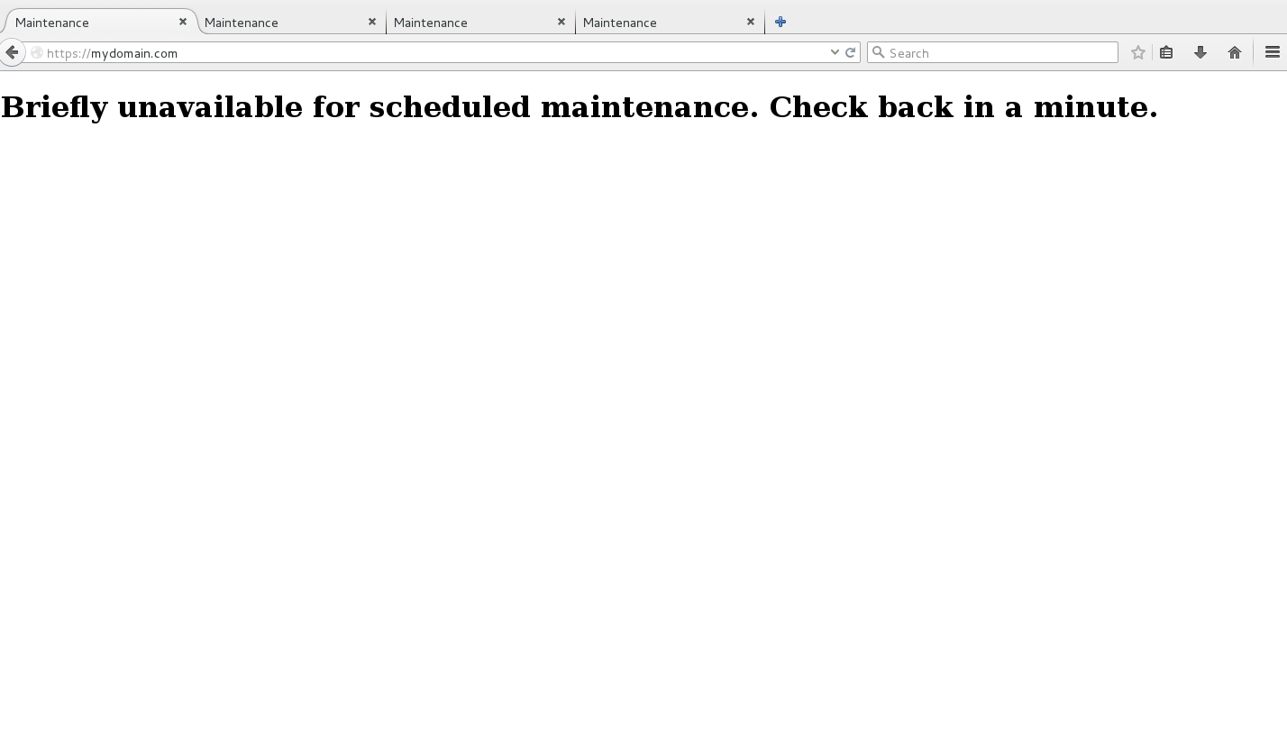 """WP Tips: in a minute, remove the """"Briefly unavailable for scheduled maintenance"""" message after automatic upgrade"""